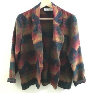 Vintage Blazer Style Sweater